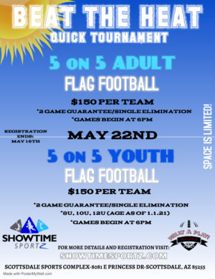 Beat the Heat Quick Tournament ADULT/YOUTH @ Scottsdale Sports Complex