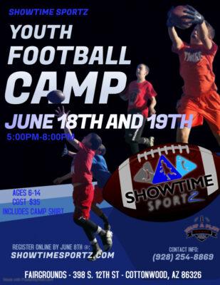 Youth Flag Football Camp @ Cottonwood Fairgrounds